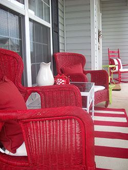 Facts About Termites - Front Porch Red Chair